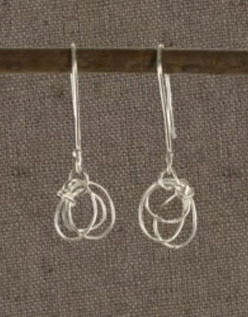 Bangladesh, Scribble Sterling Silver Earrings