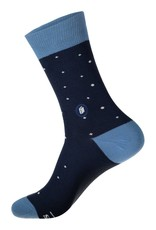 Socks That Give Books Navy and White