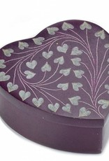 India, Purple Heart Palewa  Stone Box