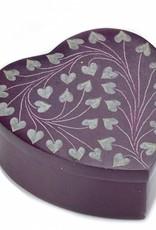 Purple Heart Palewa Stone Box