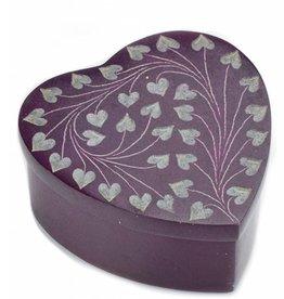 India, Purple Heart Palewa  Stone Box