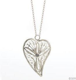 Indonesia, Filigree Heart Necklace
