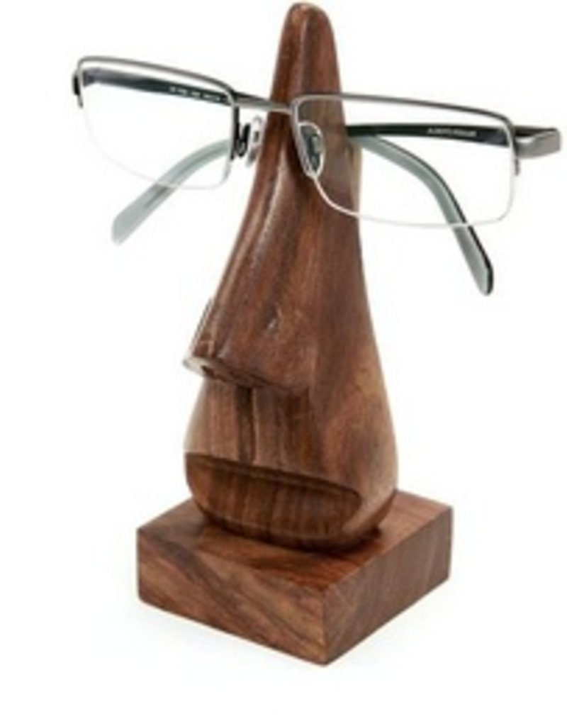 Wooden Nose Eyeglass Holder