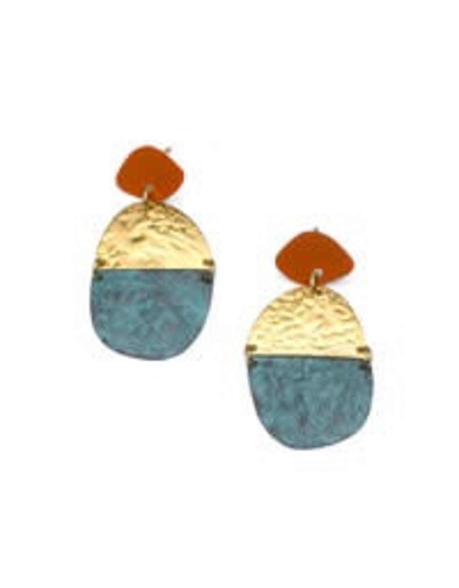 Multi Medallion Nihira Earrings