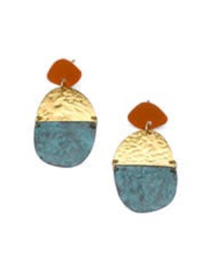 India, Nihira Earrings, Multi Medallion