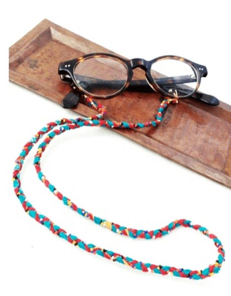 Bead and Sari Eye Glass Holder