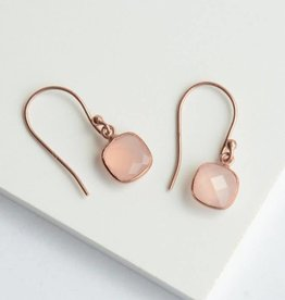 India, Daybreak Rose Gold Sterling Earrings