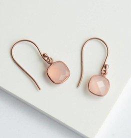 India, Daybreak Rose Gold Sterling Earrings