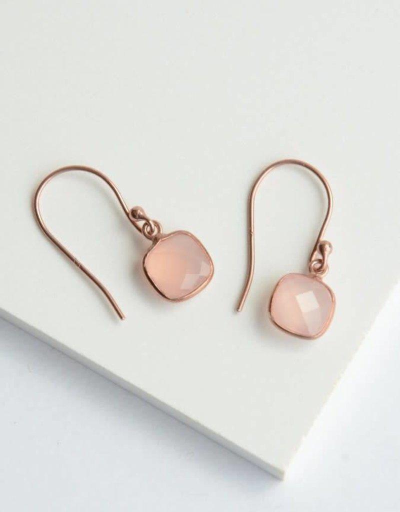 Daybreak Rose Gold Sterling Earrings