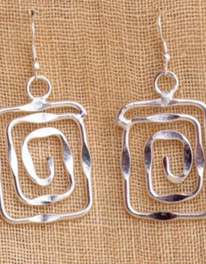 feb19 Silver Spiral Earrings