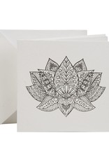 Lotus Coloring Card