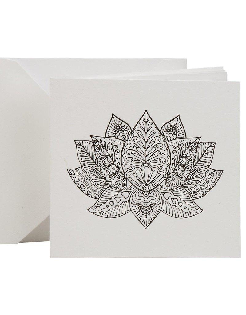Lotus Coloring Card