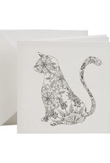 Cat Coloring Card