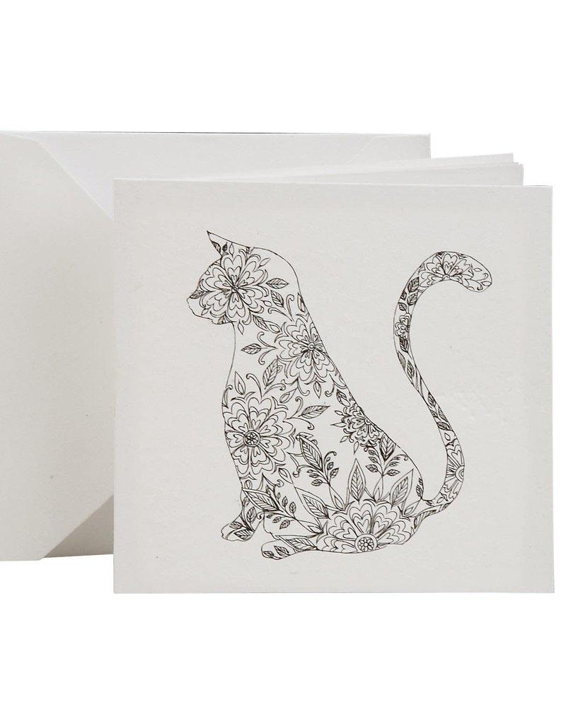 Cat Coloring Card