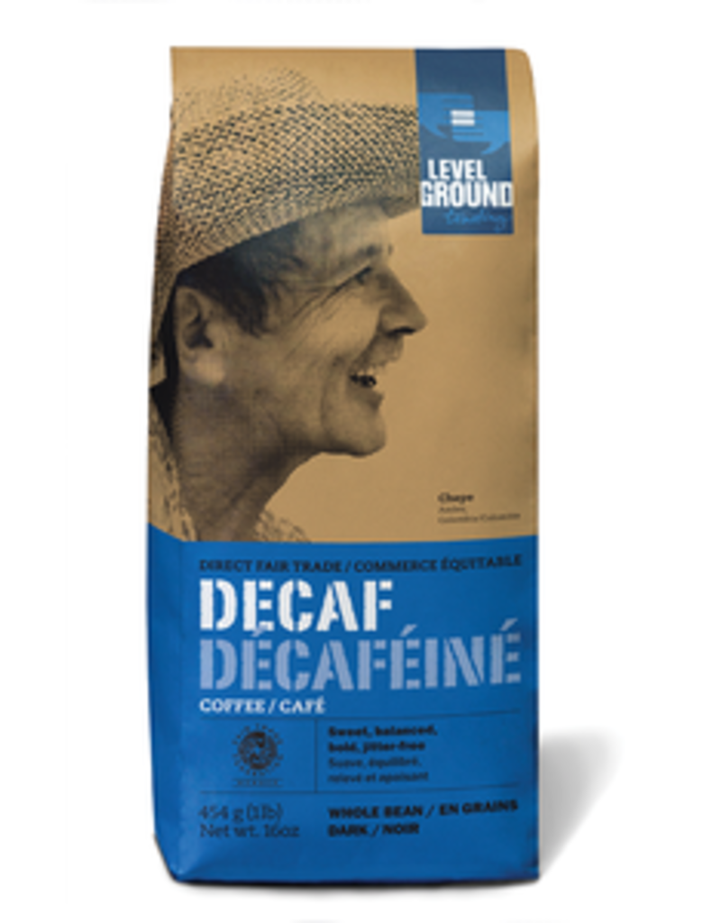 Level Ground, Decaf Colombian Whole Bean Coffee