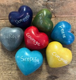 Soapstone Word Heart, Individual, 9