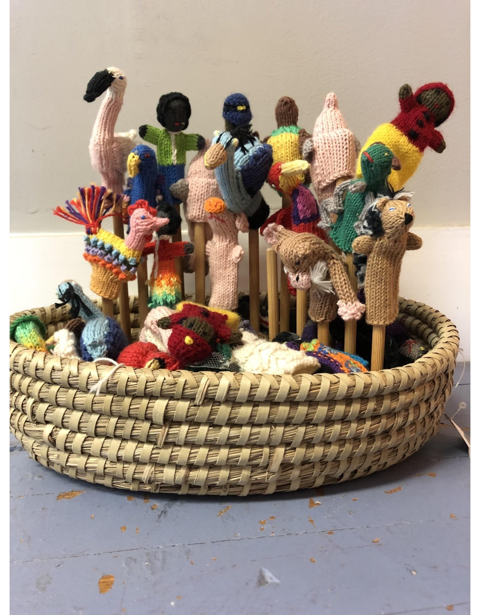 Organic Cotton Small Finger Puppets, Peru