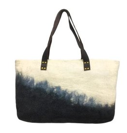 Felt Tote w/ Leather Handle