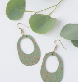 India, Painted Pond Earrings