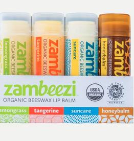 Zambeezi 4 Pack Lip Balm
