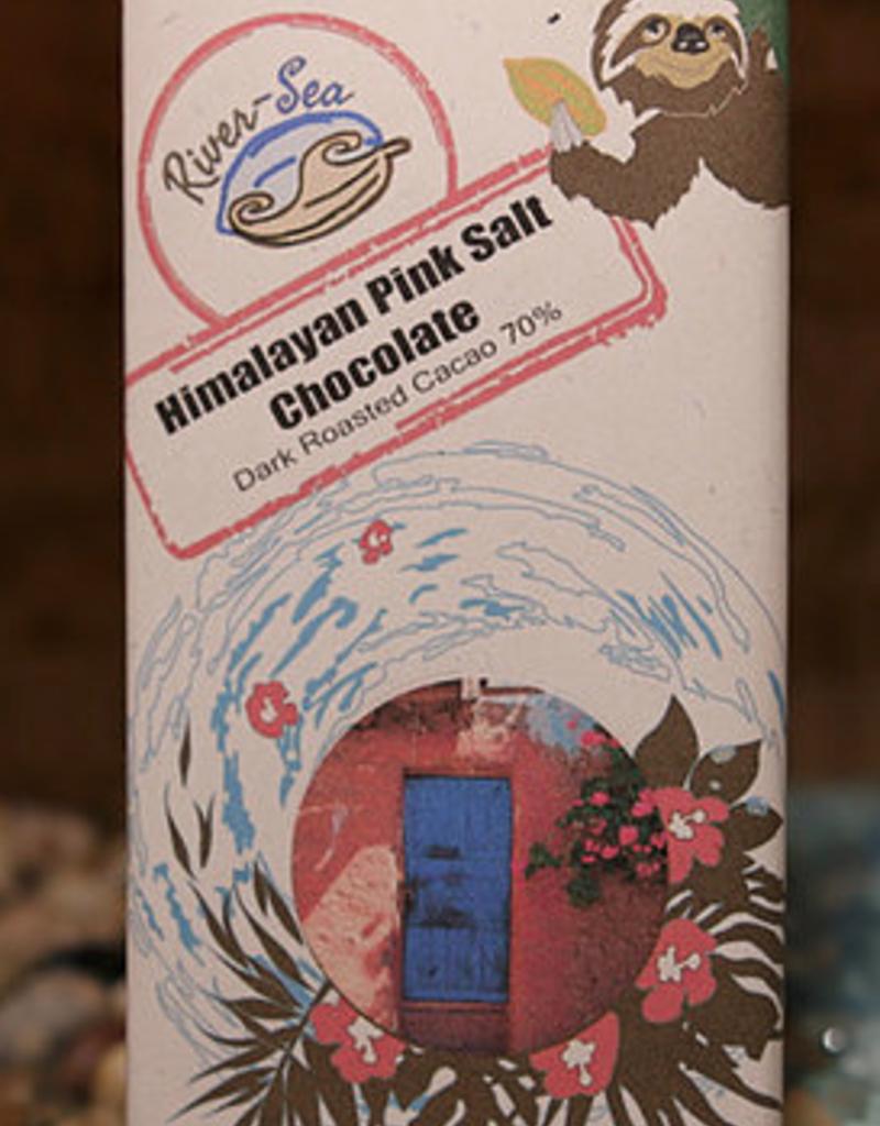 River-Sea Himalayan Pink Salt Chocolate Bar