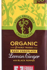 Organic Lemon and Ginger with Black Pepper Chocolate Bar