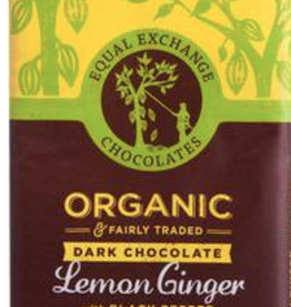 Organic Lemon and Ginger Chocolate Bar