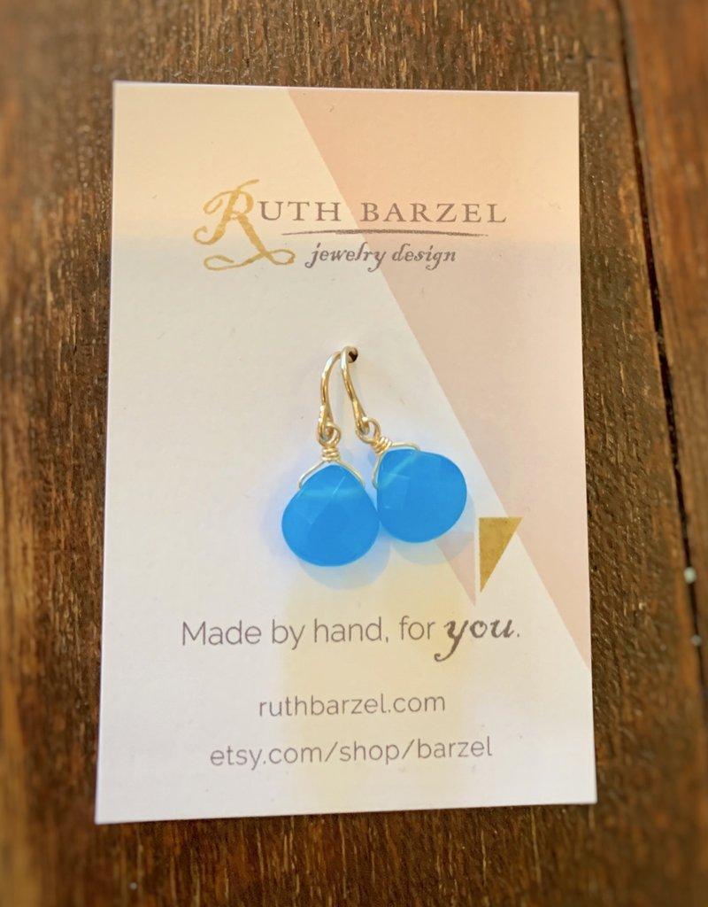 Ruth Barzel Sky Blue Quartz Drop Earrings