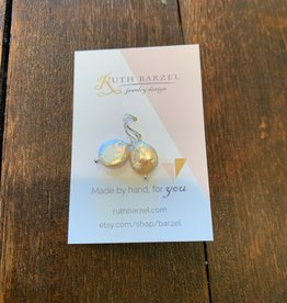 Ruth Barzel Coin Pearl Earrings