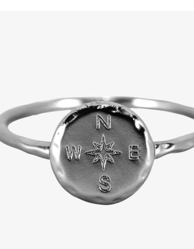 Pura Vida Compass Ring