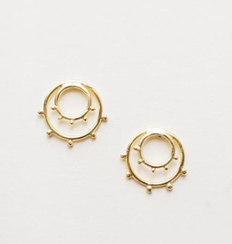 Sunburst Gold Tone Brass Studs