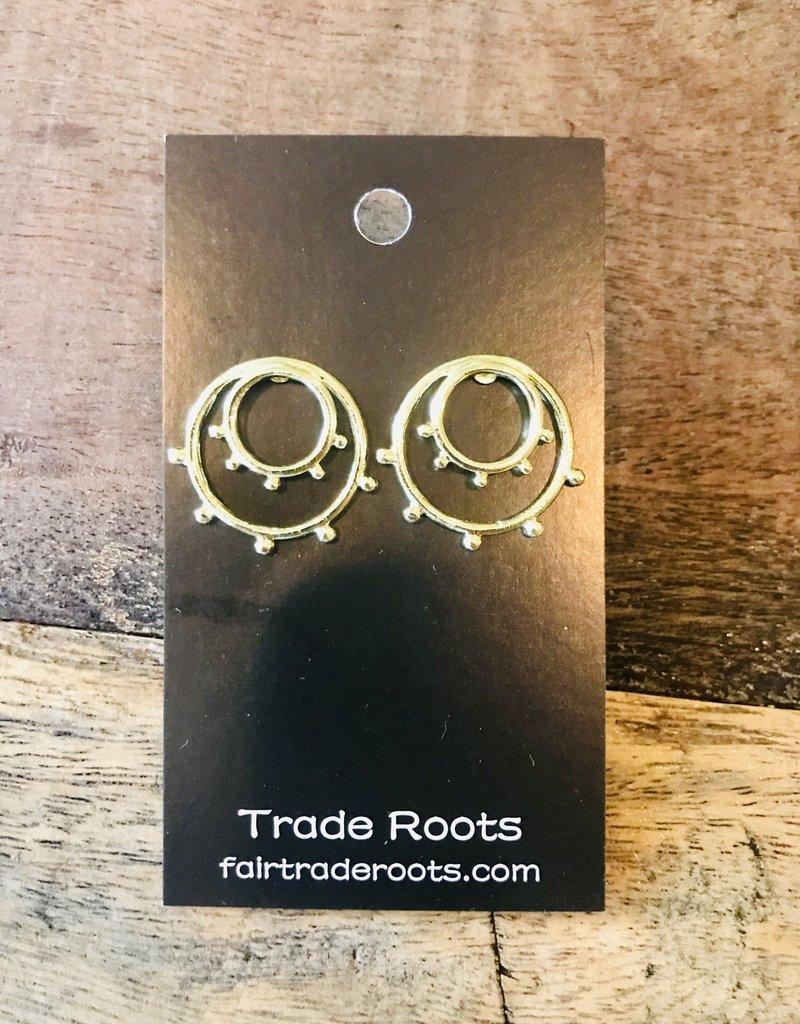 Sunburst Gold Tone Brass Studs