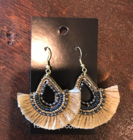 Golden Fan Teardrop Earrings