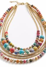Kantha Gilded Strands Necklace