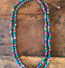 Sari Long Cool Tones Necklace
