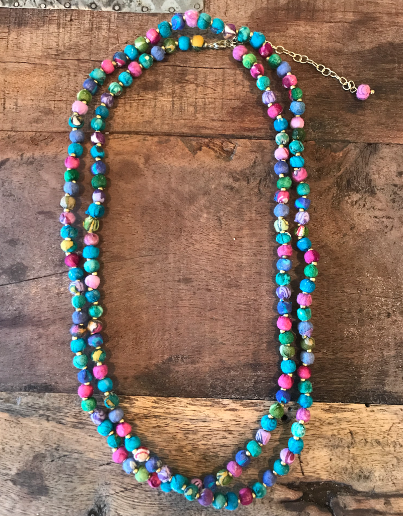 Sari Long Cool Tones Necklace