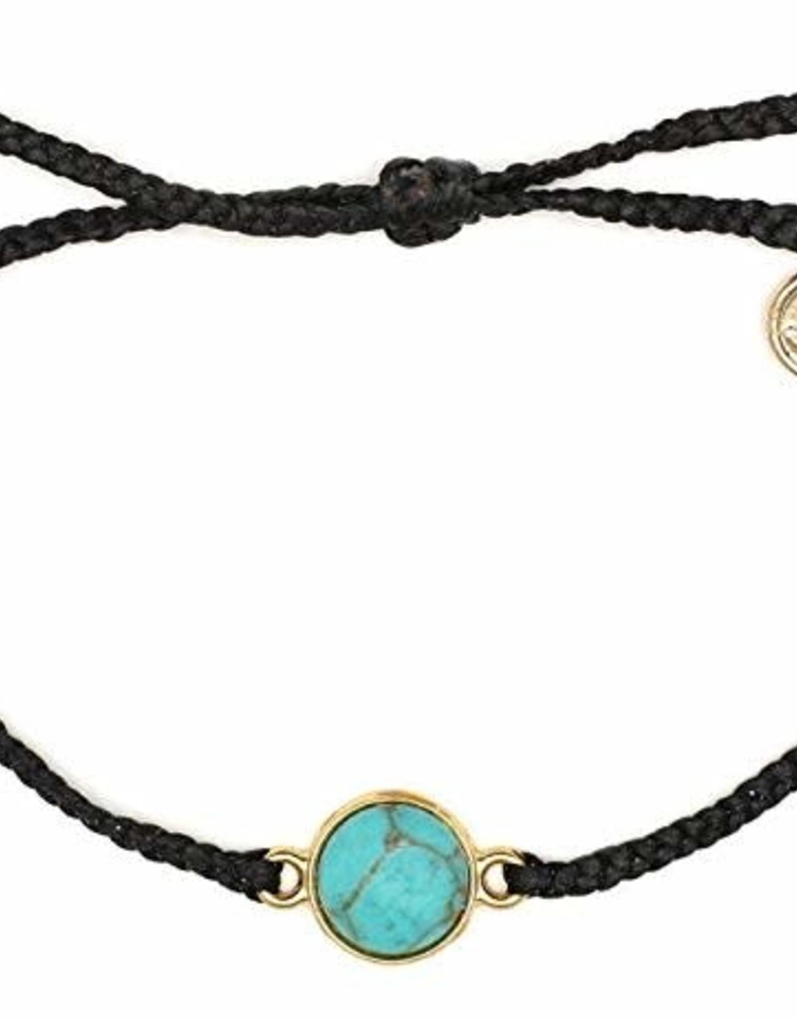 GOLD RIVIERA STONE Bracelet, BLACK
