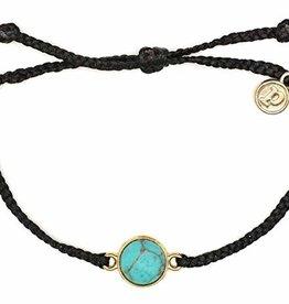 Pura Vida Gold Riviera Stone Bracelet Black