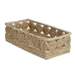 Palm Medallion Bread Basket