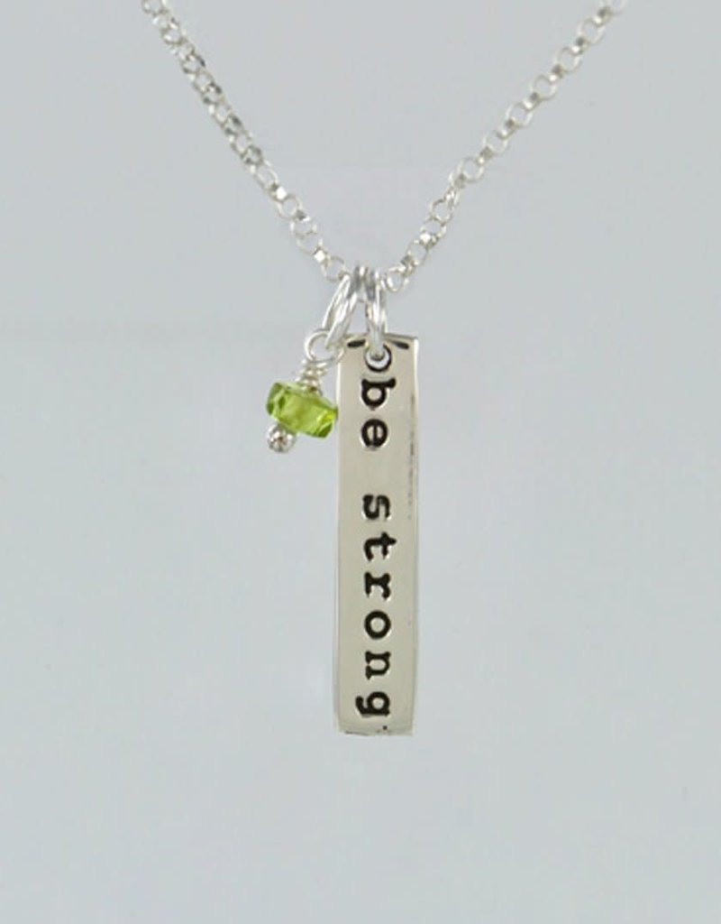 Be Strong w/ Peridot Sterling Necklace