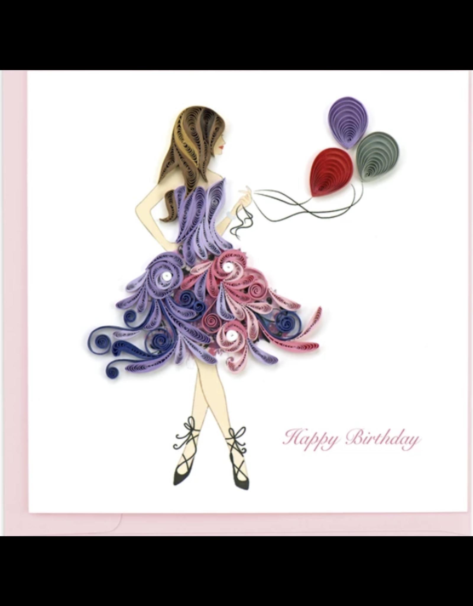 Birthday Girl Quilling Card