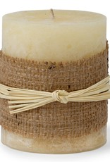 Warm Honey Wide Pillar Candle