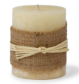 Warm Honey Wide Pillar Candle