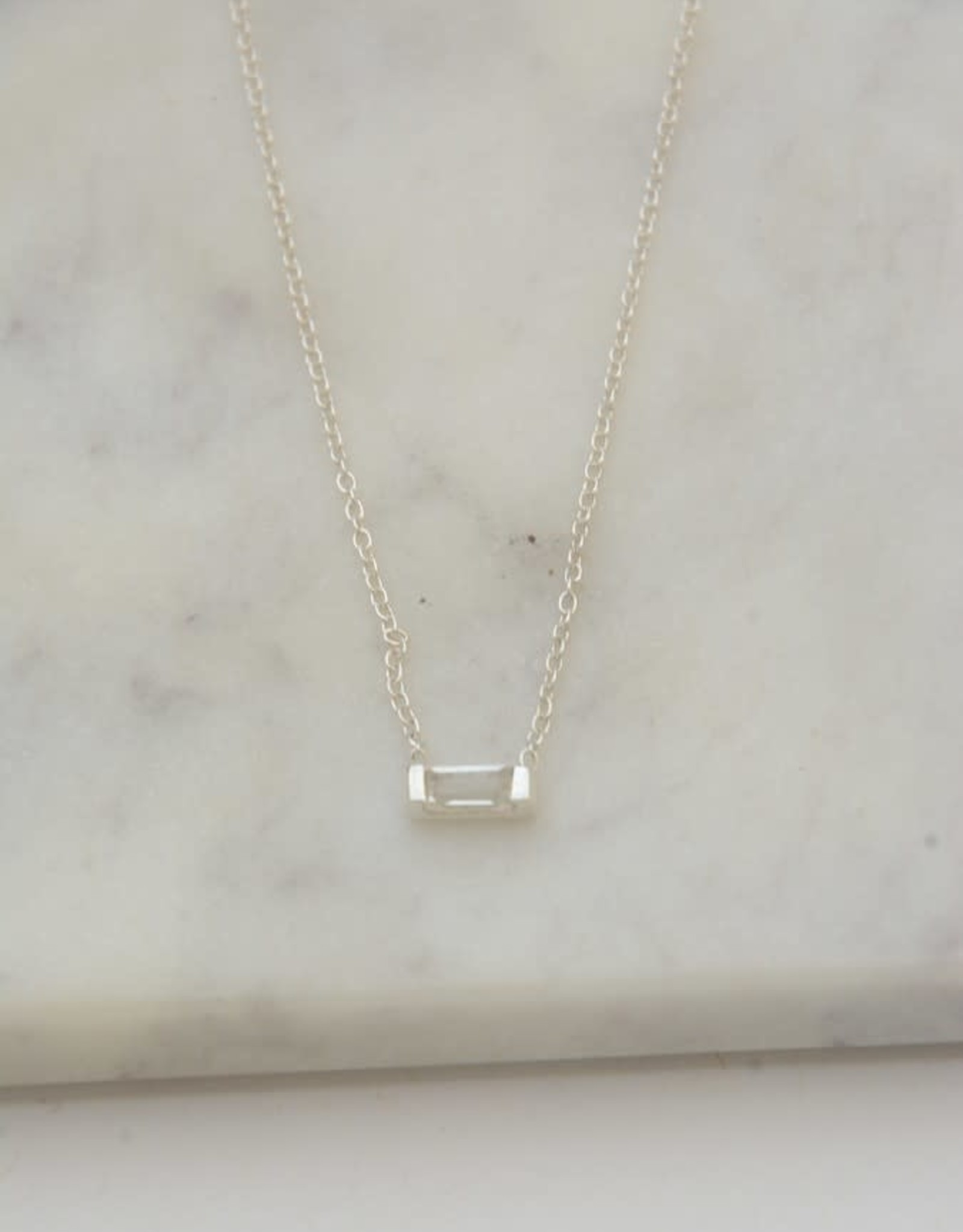 India, Prism Sterling Necklace - Crystal
