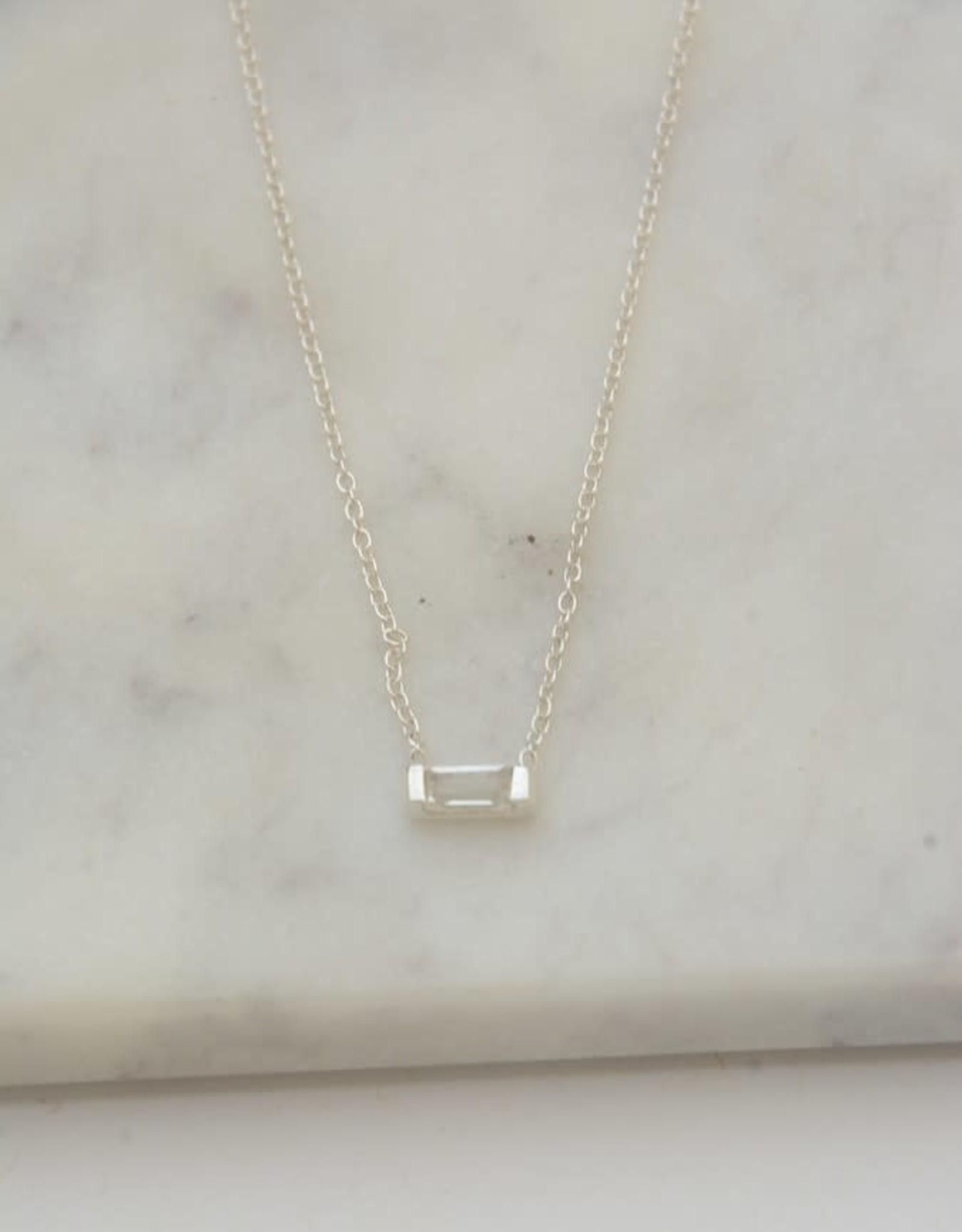 Prism Sterling Necklace - Crystal