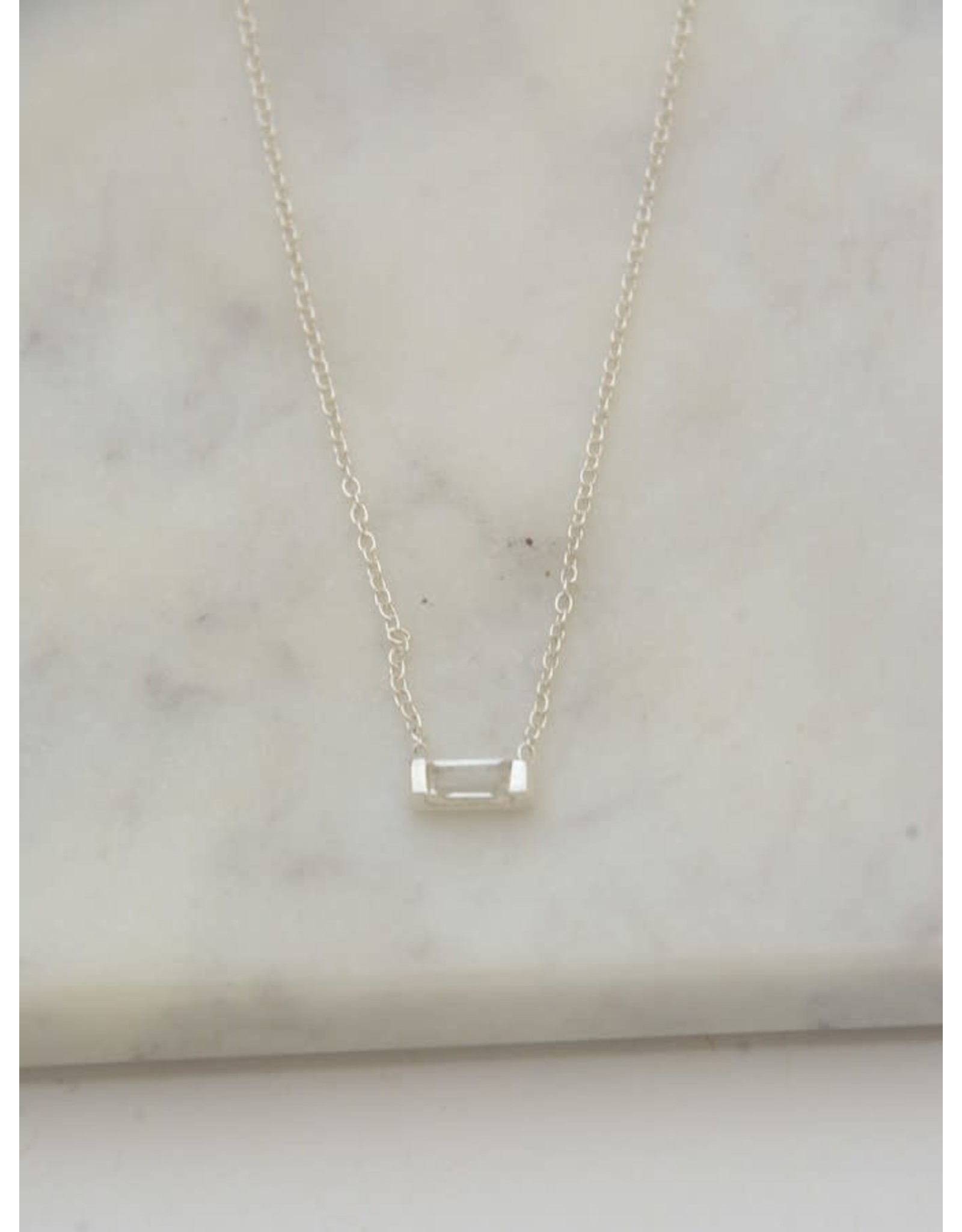 Prism Sterling Necklace - Crystal