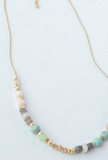 India, Playful Pastels Beaded Necklace