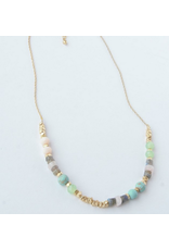 Playful Pastels Beaded Necklace, India