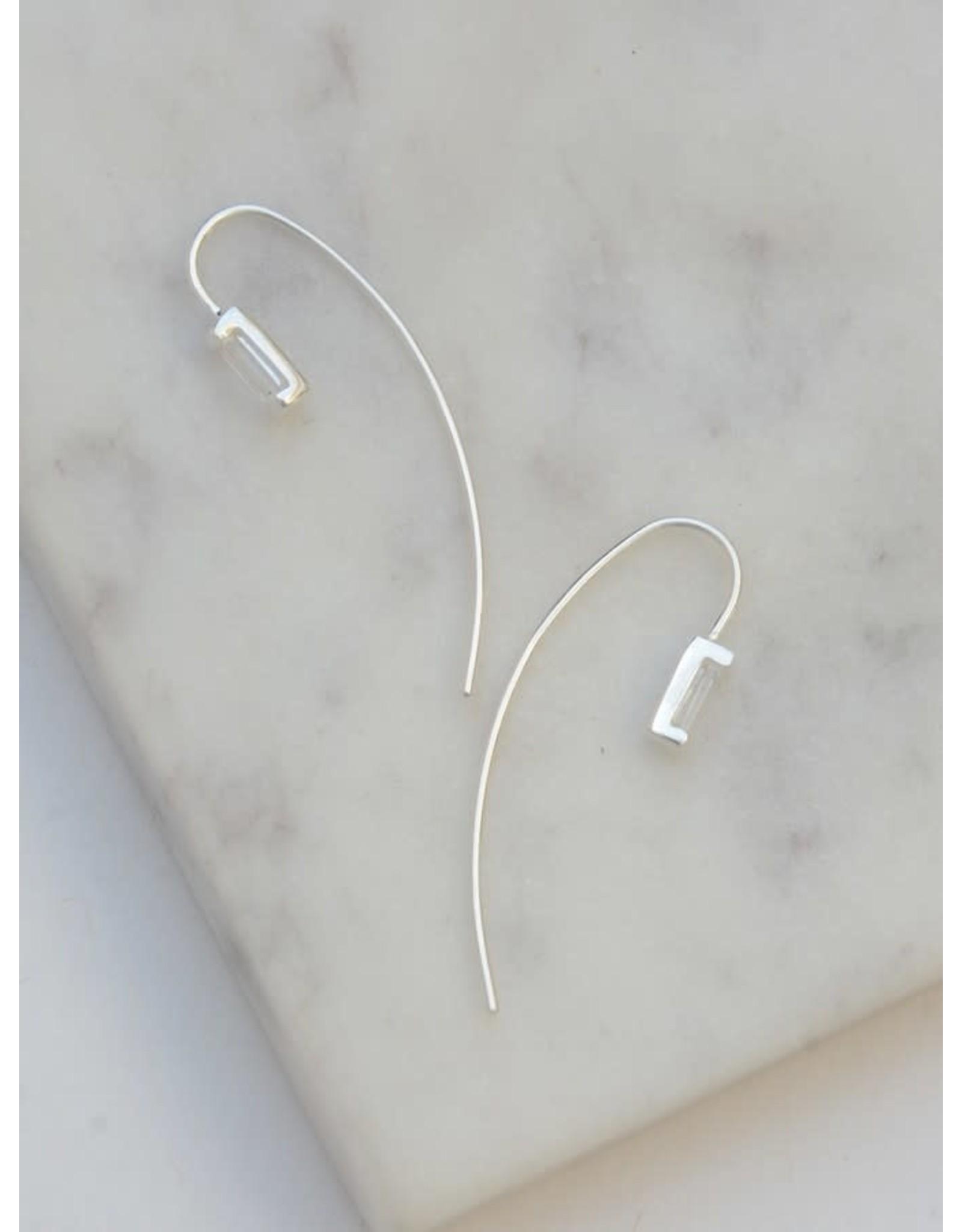 Prism Sterling Earrings - Crystal