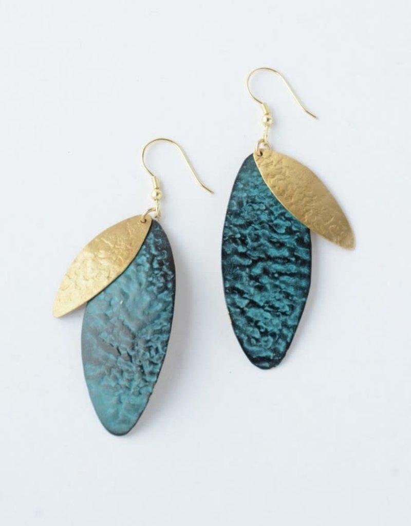 Oblong Leaf Earrings